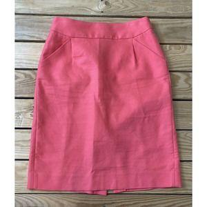 J. CREW Women's Pink Pencil Skirt Size 2